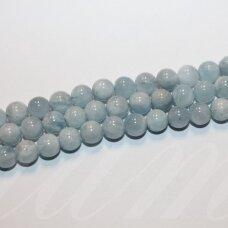 jsaqua-apv-04 apie 4 mm, apvali forma, akvamarinas, apie 92 vnt.