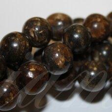 jsbronz-apv-04 apie 4 mm, apvali forma, bronzitas, apie 92 vnt.