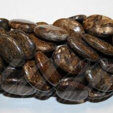jsbronz-oval-22x16x6 apie 22 x 16 x 6 mm, ovalo forma, bronzitas, 18 vnt.