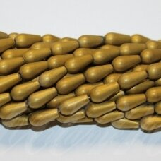 JSHA-AUK-MAT-LAS-08x5.5 apie 8 x 5.5 mm, lašo forma, matinė, auksinė spalva, hematitas, apie 50 vnt.