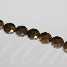 jsha-hak-disk-br-12x4 apie 12 x 4 mm, disko forma, briaunuotas, chaki spalva, hematitas, apie 32 vnt.
