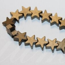 jsha-hak-mat-zv-08x2.5 apie 8 x 2.5 mm, žvaigždės forma, matinė, chaki spalva, hematitas, apie 58 vnt.