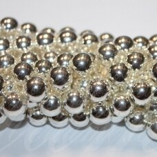 jsha-svsid-apv-03 apie 3 mm, apvali forma, šviesi, sidabrinė spalva, hematitas, apie 130 vnt.
