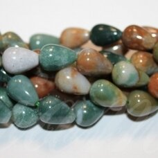 jskaa0005-las-15x10 about 15 x 10 mm, drop shape, colourful color, agate, about 28 pcs.