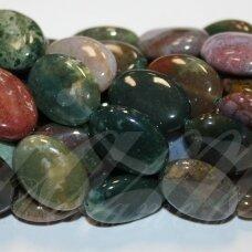 jskaa0005-oval-12x8x4 apie 12 x 8 x 4 mm, ovalo forma, marga spalva, agatas, apie 32 vnt.