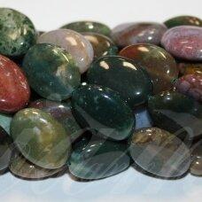jskaa0005-oval-18x13x6 apie 18 x 13 x 6 mm, ovalo forma, marga spalva, agatas, apie 22 vnt.