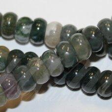 jskaa0005-ron-05x8 apie 5 x 8 mm, rondelės forma, marga spalva, agatas, apie 80 vnt.
