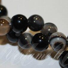 jskaa0013-apv-06 apie 6 mm, apvali forma, marga, rusva spalva, agatas, apie 62 vnt.