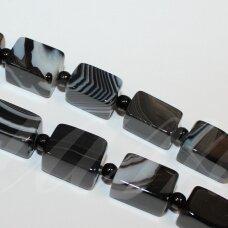 jskaa0014-stac-15x10 apie 15 x 10 mm, stačiakampio forma, marga spalva, agatas, apie 21 vnt.