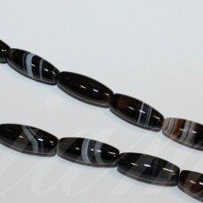 jskaa0014-pai-16x6 apie 16 x 6 mm, pailga forma, marga spalva, agatas, apie 25 vnt.