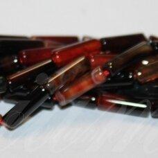 jskaa0035-cil-13x4 apie 13 x 4 mm, cilindro forma, marga spalva, agatas, apie 30 vnt.