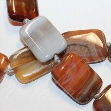 jskaa0039-stac-25x18x6 apie 25 x 18 x 6 mm, stačiakampio forma, marga spalva, agatas, apie 15 vnt.