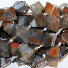 jskaa0041-rom-24x27x20 apie 24 x 27 x 20 mm, rombo forma, marga spalva, agatas, 15 vnt.
