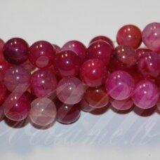 jskaa0043-apv-04 apie 4 mm, apvali forma, marga, rožinė spalva, agatas, apie 92 vnt.