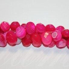 jskaa0043-pai3-br-12x15x10 apie 12 x 15 x 10 mm, pailga forma, briaunuotas, marga, rožinė spalva, agatas, apie 32 vnt.