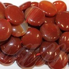 jskaa0044-disk-18x7 apie 18 x 7 mm, disko forma, ruda spalva, agatas, apie 22 vnt.