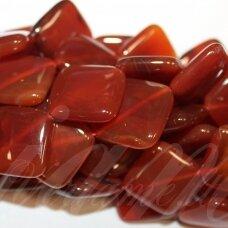 jskaa0044-rom-24x24x7 apie 24 x 24 x 7 mm, rombo forma, ruda spalva, agatas, 16 vnt.
