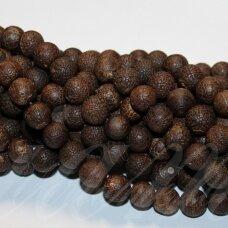JSKAA0220-APV-08 apie 8 mm, apvali forma, marga, ruda spalva, agatas, apie 47 vnt