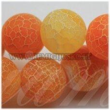 jskaa0313-apv-06 apie 6 mm, apvali forma, marga, matinė, oranžinė spalva, agatas, apie 63 vnt.