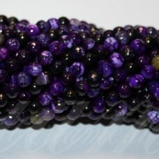 jskaa0316-apv-br-04 apie 04 mm, apvali forma, briaunuotas, violetinė spalva, marga spalva, agatas, apie 92 vnt.
