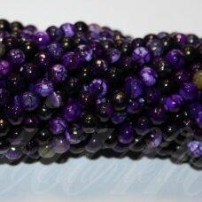jskaa0316-apv-br-06 apie 06 mm, apvali forma, briaunuotas, violetinė spalva, marga spalva, agatas, apie 62 vnt.