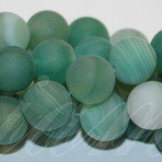 jskaa0320-apv-06 apie 6 mm, apvali forma, marga, matinė, žalia spalva, agatas, apie 63 vnt.