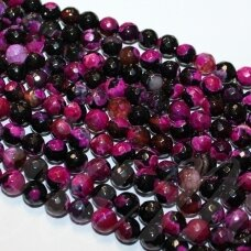 jskaa0367-apv-br-12 about 12 mm, round shape, faceted, colourful color, agate, about 32 pcs.
