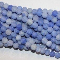 jskaa0380-apv-04 apie 4 mm, apvali forma, šviesi, mėlyna spalva, agatas, apie 92 vnt.