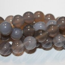 jskaa0401-apv-12 apie 12 mm, round shape, grey color, agate, about 32 pcs.