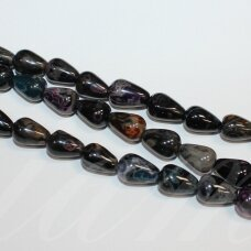 jskaa0517-las-12x9 about 12 x 9 mm, drop shape, colourful color, agate, about 22 pcs.