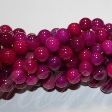 jskaa0543-apv-08 apie 08 mm, apvali forma, violetinė spalva, marga spalva, agatas, apie 48 vnt.