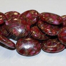 jskaa0605-oval-25x18x7 apie 25 x 18 x 7 mm, ovalo forma, marga spalva, agatas, 16 vnt.