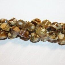 jskaa0795-pai-4br-suk-12x8 apie 12 x 8 mm, pailga forma, keturbriaunis, suktas, marga spalva, agatas, apie 32 vnt.