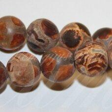 jskaa0818-apv-08 apie 8 mm, apvali forma, margas, matinis, agatas, apie 48 vnt.