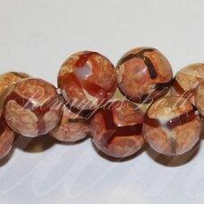 jskaa0830 apie 8 mm, apvali forma, briaunuotas, marga spalva, agatas, apie 45 vnt.