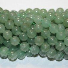 jskaav-zal-apv-10 apie 10 mm, apvali forma, žalias avantiurinas, apie 38 vnt.