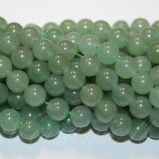 jskaav-zal-apv-04 apie 4 mm, apvali forma, žalias avantiurinas, apie 92 vnt.