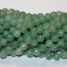 jskaav-zal-apv-br-12 apie 12 mm, apvali forma, briaunuotas, žalias avantiurinas, apie 32 vnt.