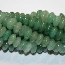 jskaav-zal-ron-04x6 apie 4 x 6 mm, rondelės forma, žalias avantiurinas, apie 94 vnt.