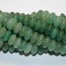 jskaav-zal-ron-05x8 apie 5 x 8 mm, rondelės forma, žalias avantiurinas, apie 80 vnt.