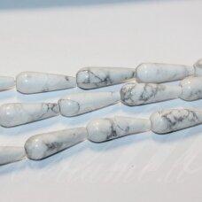 jskah-balt-las-30x10 apie 30 x 10 mm, lašo forma, balta spalva, hovlitas, 13 vnt.