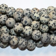 jskaja-dalm-mat-apv-12 apie 12 mm, apvali forma, matinė, dalmantininis jaspis, apie 32 vnt.