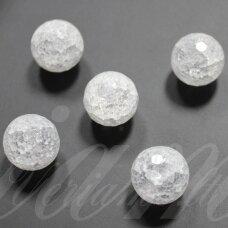 jskakk-apv-br-10 apie 10 mm, apvali forma, briaunuotas, skaidrus, daužtas, kalnų krištolas, apie 40 vnt.