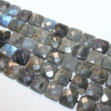 jskalab-kvad-br-14x6 mm, kvadrato forma, briaunuotas, labradoritas, apie 28 vnt.