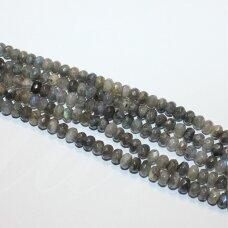 JSKALAB-RON-BR-04x6 apie 4 x 6 mm, rondelės forma, briaunuotas, labradoritas, apie 90 vnt.