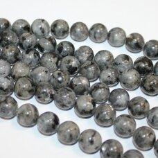 jskalar-apv-08 apie 8 mm, apvali forma, larvikitas, apie 48 vnt.
