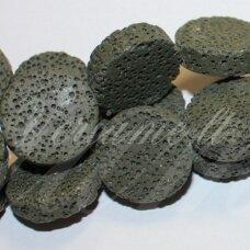 JSKALAV-CHAK-DISK3-20x6 apie 20 x 6 mm, disko forma, chaki spalva, lava, 19 vnt.
