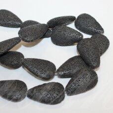jskalav-juod-las-pl-16x12x6 apie 16 x 12 x 6 mm, lašo forma, juoda spalva, lava, apie 24 vnt.