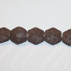 jskalav-rud-6kamp-21.5x23.5x10 apie 21.5 x 23.5 x 10 mm, šešiakampio forma, ruda spalva, lava, 18 vnt.