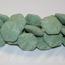 jskalav-zalsv-6kamp-21.5x23.5x10 apie 21.5 x 23.5 x 10 mm, šešiakampio forma, žalsva spalva, lava, 19 vnt.